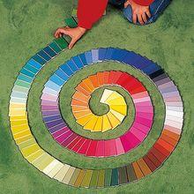 Farblegetäfelchen