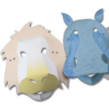 3D-Tiermasken, 30 Stk.