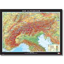 Alpenländer physisch/politisch, L