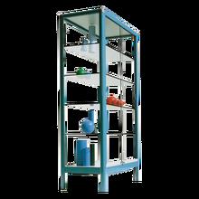 Aluminiumvitrine V15 mit 4 verstellbaren Dickglasböden B/H/T: 100x180x50 cm