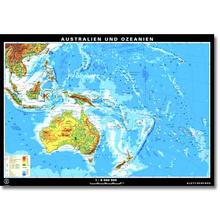 Australien + Ozeanien physisch/politisch, XXL