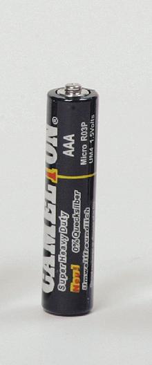 Batterie, einweg: Mikrozellen 1,5 V/4 Stk.