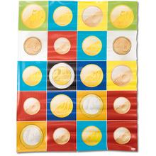 BeeBot Matte mit Euro-Münzen