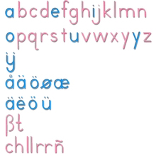 Bewegliches Alphabet, Druckschrift