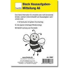 Block Hausaufgaben-Mitteilung A6