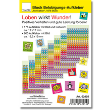 Block Mini-Sticker, 1.076 Stk.