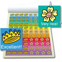 Block Mini-Sticker Englisch, 1.076 Stk.