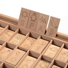 Buchstabenspiel Holzkasten