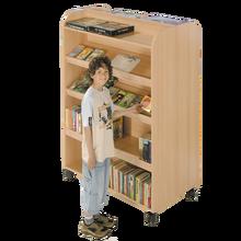 Bücherregal mit 10 Ablageflächen, fahrbar B/H/T: 120x160x64 cm