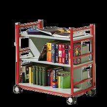 Bücherwagen mit 3 Ebenen, fahrbar B/H/T: 90x90x50 cm