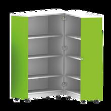 Bücherwagen mit 6 Einlegeböden, zusammenklappbar, fahrbar B/H/T: 80x127,5x64 cm