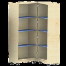 Bücherwagen mit 6 Einlegeböden, zusammenklappbar, fahrbar B/H/T: 80x167,5x64 cm