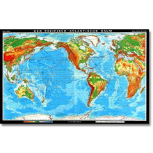 Der Pazifisch-Atlantische Raum physisch, XXL