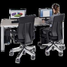 EDV-Computertisch mit Kabelkanal B/H/T: 80x72x80 cm