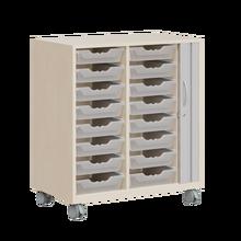 Ergo Tray Sideboard flache Boxen, Rollotür