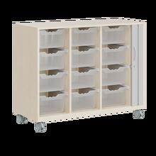 Ergo Tray Sideboard, hohe Boxen, Rollotür