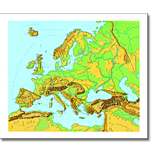 Europa Reliefformen/Landschaftsformen, L
