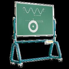 Fahrbare Tafel aus Premium Stahlemaille mit Rundrohrgestell, Serie 6 E, grün Tafelfläche: B/H: 150x120 cm
