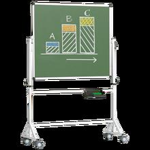 Fahrbare Tafel aus Premium Stahlemaille, Vierkantgestell, grün Tafelfläche: B/H: 150x100 cm