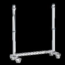 Fahrbares Gestell für Stecktafel 2 Rollen feststellbar Höhe: 190 cm