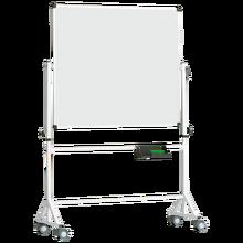 Fahrbares Whiteboard aus Premium Stahlemaille mit Vierkantgestell, Serie 9 E, weiß Tafelfläche: B/H: 150x120 cm