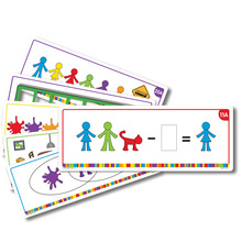Familien-Figuren-Aktivitätenkarten