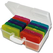 Farb-Boxen im Koffer