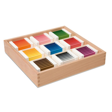 Farbtäfelchen, Schattierungskasten mit 9 Farben