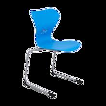 Freischwinger Schulstuhl mit Kunststoff- Sitzschale