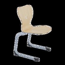 Freischwinger Schulstuhl mit Sperrholz Sitzschale