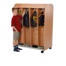 Garderobe mit Ablage, 8 Kleiderhaken, fahrbar B/H/T: 120x162x64 cm