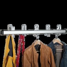 Garderobenleiste aus Aluminium mit 5x2er Haken Länge: 100 cm