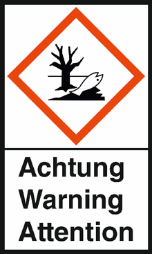 "GHS-Warnetiketten ""Umwelt – Achtung"""