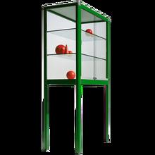 Glasvitrine der Serie V1 aus Sicherheitsglas mit 2 verstellbaren Einlegeböden