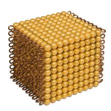 Goldkubus, goldene Perlen
