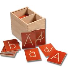 Groß- und Kleinbuchstaben Holzbox