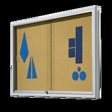 Informationsvitrine mit Naturkorkrückwand B/H/T: 100x93x8 cm