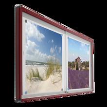 Informationsvitrine mit Whiteboardrückwand B/H/T: 100x93x6 cm