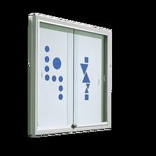 Informationsvitrine mit Whiteboardrückwand B/H/T: 100x94x8 cm