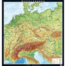 Karte Mitteleuropa, physisch