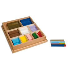 Kasten mit farbigen Rechenstäben