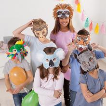 Kindermasken-Set Exotische Tiere