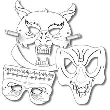 Kindermasken-Set Grusel