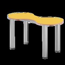 Kleeblatt-Zweiertisch 118 x 49 cm, höhenverstellbar 58-72 cm