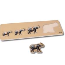 Kleinkind Puzzle: 4 Elefanten