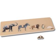 Kleinkind Puzzle: 5 Wildtiere
