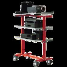 LCD-Projektorwagen auf 4 Rollen B/H/T: 82x106x45 cm.