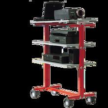 LCD-Projektorwagen auf 4 Rollen, inklusive Elektroanschluss B/H/T: 82x106x45 cm.