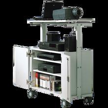 LCD-Projektorwagen mit Unterschrank, fahrbar Innenmaße B/H/T: 72x51x43 cm, Gesamthöhe: 106 cm