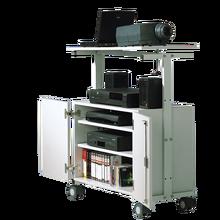 LCD-Projektorwagen mit Unterschrank, fahrbar Innenmaße: B/H/T: 72x51x43 cm, Gesamthöhe: 106 cm